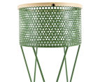 Scandinavian Style 20x27cm Footed Planter - Green 5