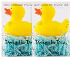 2 x Darcy The Duck Rubber Toy And Bath Soap Set 1