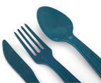 EcoSouLife Bamboo Cutlery Cluster - Navy 4