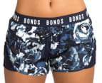 Bonds Women's Active Running Shorts - Navy/Floral 2