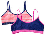 Bonds Girls' Hipster Scoop Crop 2-Pack - Purple/Pink 1