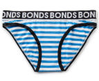 Bonds Girls' New Era Bikini - Blue Stripe 1