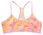 Bonds Girls' Hipster Crop Racer - Pink/Orange 1
