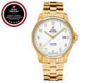 Swiss Military Men's 39mm 3-Hand & Date Watch - White/Gold 1