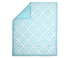 The Peanut Shell 112x94cm Tile Quilt - Teal 1