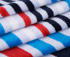 Bambury 75x150cm Dobby Velour Beach Towel - Blue 3