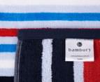 Bambury 75x150cm Dobby Velour Beach Towel - Blue 4