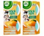 2 x Air Wick Air Freshener Stick Ups Sparkling Citrus 2pk 1
