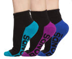 2 x Bonds Women's Size 3-8 Quarter Crew 3-Pack - Multi  1