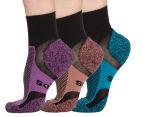 Bonds Women's Size 3-8 Ultimate Comfort Socks 3-Pack - Black/Multi 1