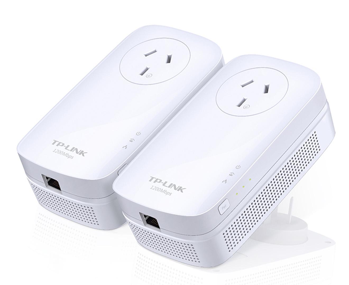 Tp Link Av1200 Gigabit Passthrough Powerline Starter Kit White Great Daily Deals At