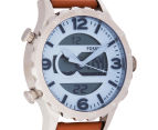 Fossil Men's 48mm Nate Blue Dial Leather Watch - Blue 2