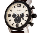 Fossil Men's 48mm Nate Chronograph Leather Watch - Dark Brown 3