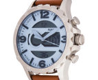 Fossil Men's 48mm Nate Blue Dial Leather Watch - Blue 3