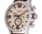 Fossil Men's Nate 48mm Chronograph Leather Watch - Light Brown 3