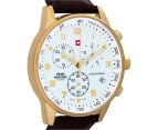 Swiss Military Men's 41mm Chronograph Leather Watch - Gold 2