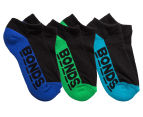 Bonds Kids' Cushioned Sole Low Cut Socks 3-Pack - Multi 1