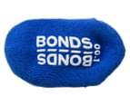 Bonds Baby Size 00-1 Logo Quarter Crew Socks 2-Pack - White/Blue 5