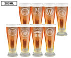 8 x Personalised Premium Beer Glass 285mL 1