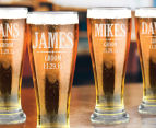 6 x Personalised Premium Beer Glass 425mL 5