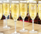6 x Personalised Champagne Glass 170mL 5