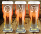 6 x Personalised Premium Beer Glass 425mL 6
