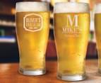 8 x Personalised Standard Beer Glass 425mL 6