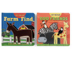 2-Pack Lift The Flap Books - Farm/Zoo 1