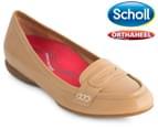 Scholl Women's Meadow Orthaheel Loafer - Biscuit Patent 1