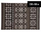 Palais Classic Persian Floral Motif 230x160cm Rug - Dark Brown 1