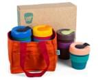 KeepCup Assorted Original Reusable Cups 4-Pack w/ Carry Bag 1