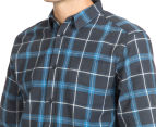 Globe Men's Stratton Long-Sleeve Shirt - Marine Blue 6