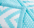 The Peanut Shell 112x94cm Tile Quilt - Teal 3