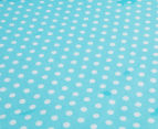 The Peanut Shell Dots Fitted Bassinet Sheet - Teal 3