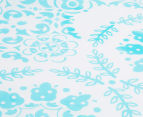 The Peanut Shell Floral Fitted Cot Sheet - Teal 3