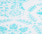 The Peanut Shell Floral Fitted Bassinet Sheet - Teal 3