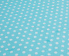 The Peanut Shell Dots Fitted Cot Sheet - Teal 3