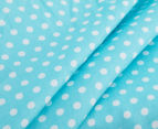 The Peanut Shell Dots Fitted Bassinet Sheet - Teal 4