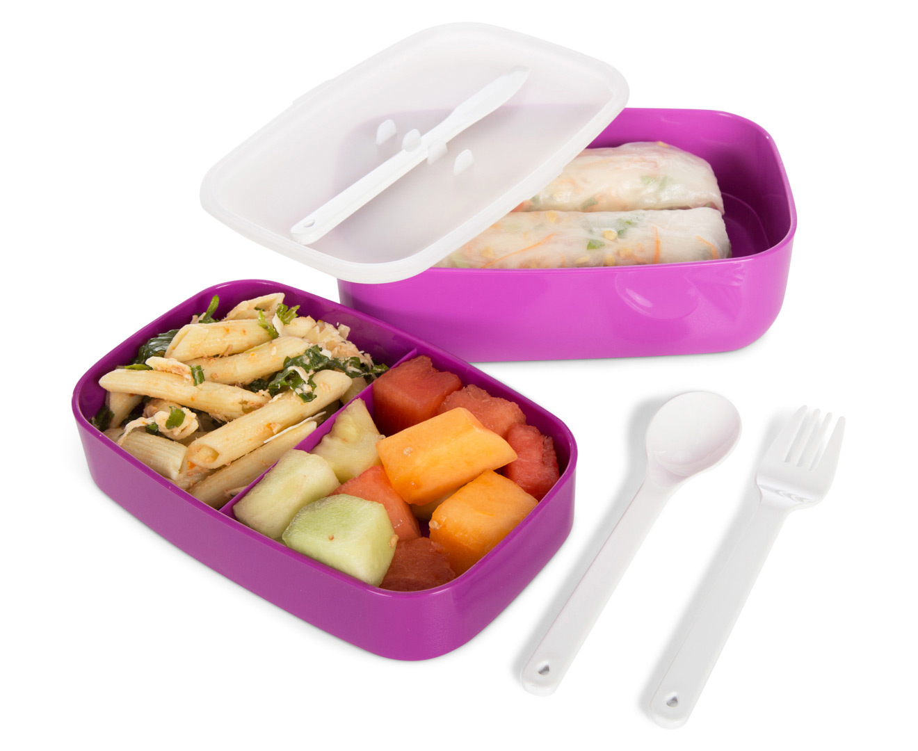 oasis stackable bento lunchbox purple great daily deals at australia 39 s favourite superstore. Black Bedroom Furniture Sets. Home Design Ideas