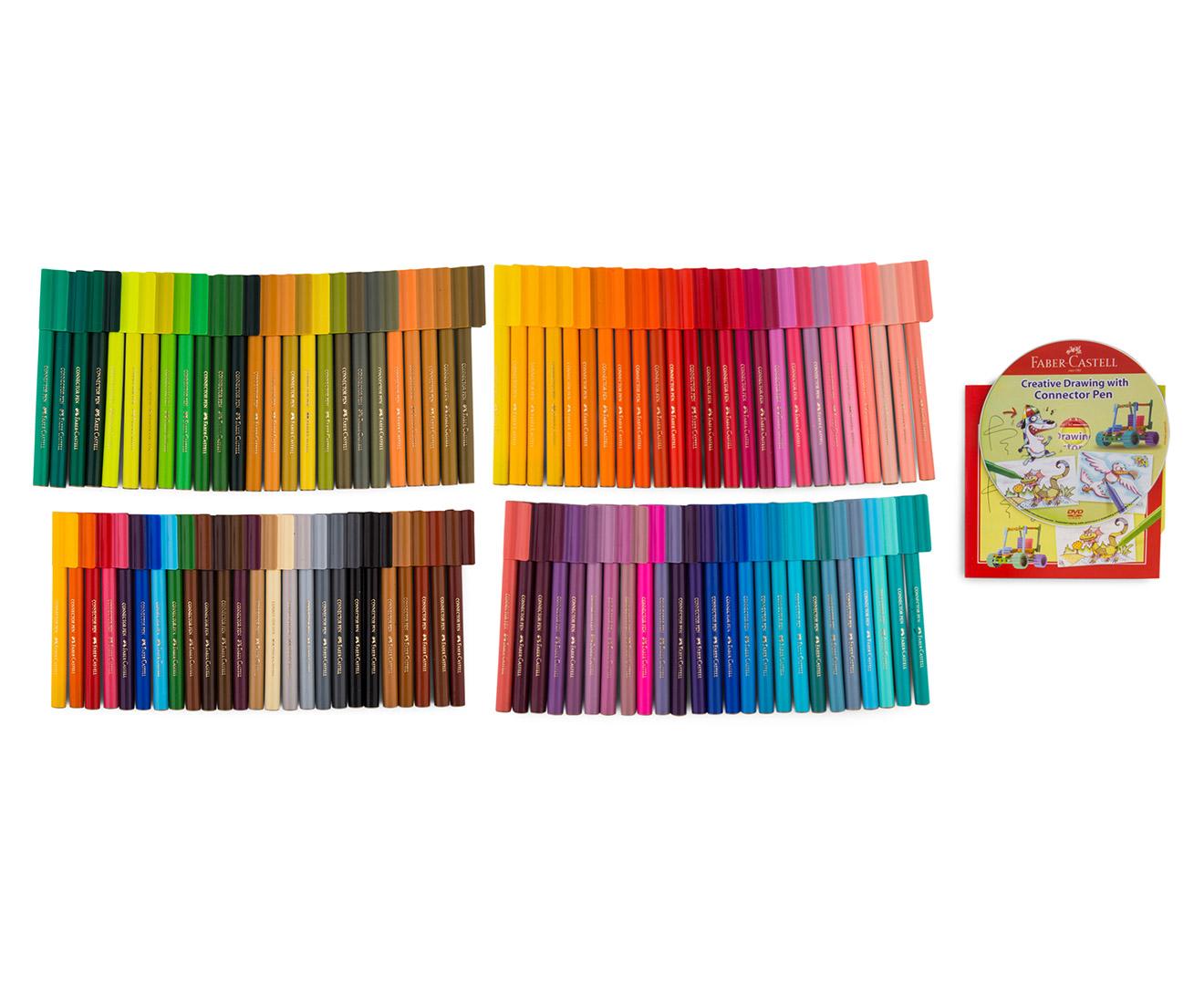 Faber Castell 100 Connector Pens Caddy Case Mumgo Com Au
