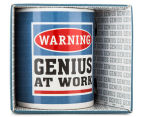 Warning, Genius At Work Novelty Mug 1
