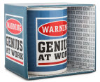 Warning, Genius At Work Novelty Mug 2