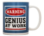 Warning, Genius At Work Novelty Mug 3