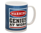 Warning, Genius At Work Novelty Mug 4