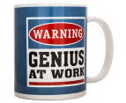 Warning, Genius At Work Novelty Mug 6