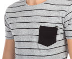Silent Theory Men's Incline Tee - Grey Marle 6
