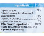 6 x Bellamy's Organic Berries, Cinnamon & Apple Baby Food 90g 3