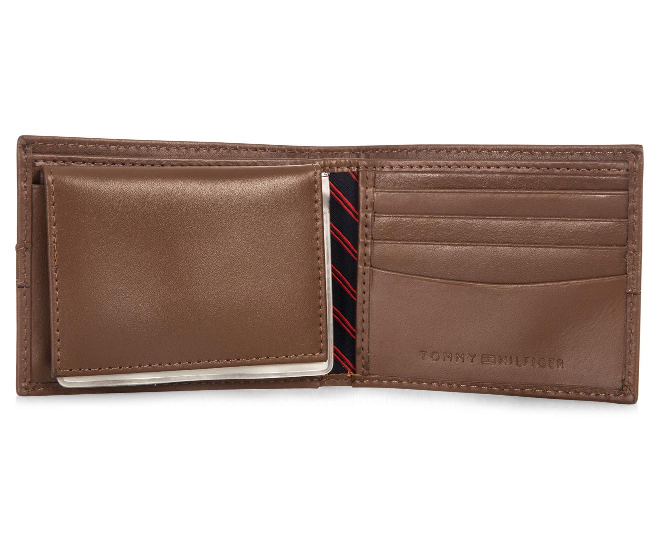 Tommy Hilfiger Men S Passcase Bilfold Wallet Tan Great