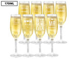 8 x Personalised Champagne Glass 170mL 1