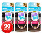 3 x Scunci 27 Pack No Damage Elastics With Bonus Hair Ties - Multi  1